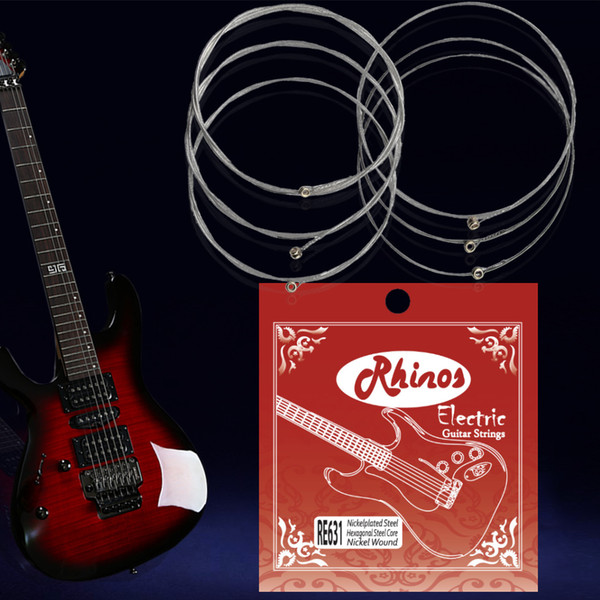 top popular Rhinos RE631SL Electric Guitar String Super Light Tension .009-.042 2019