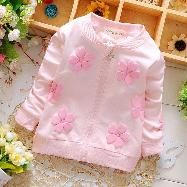 4b5d2d0f3 Nueva ropa de bebé primavera niñas niños marca abrigos de algodón para niño  niña flores cardigan ropa de bebé chaqueta deportiva ropa de abrigo