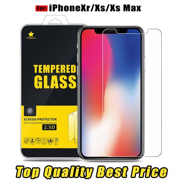 Für das iPhone Xs Max Xr Die sparsamste Scheibe aus gehärtetem Glasfolie 0.3MM 2.5D Versand innerhalb von 1 Tag