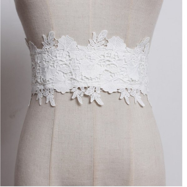 [EWQ] Fashion 2018 New Autumn Solid Colour High Quality Lace Wide Belt Girdle Snap Button Casual Style Women KB070