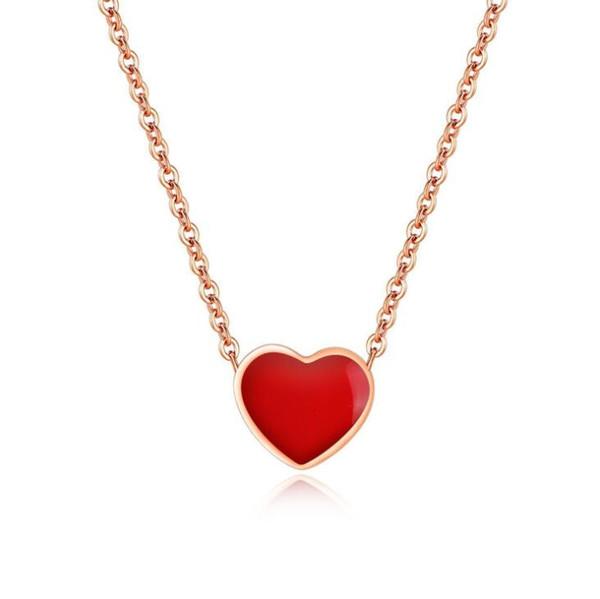 Nova 2019 venda quente de alta qualidade coreano moda jóias titanium aço amor pingente de colar de presente do dia dos namorados frete grátis