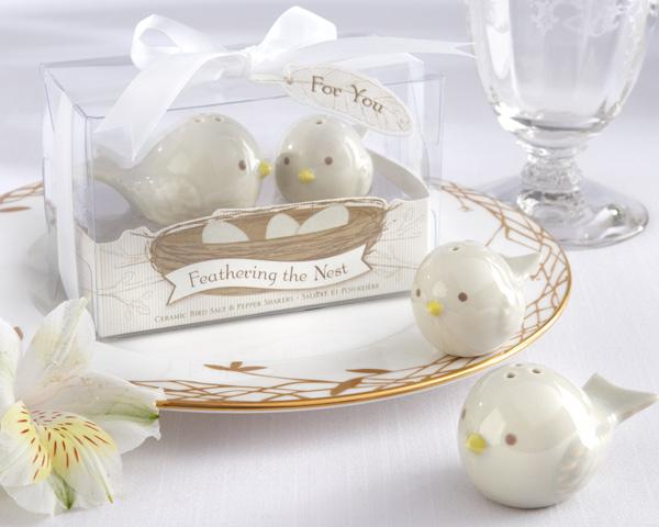 """Free Shipping 20sets/lot """"Feathering the Nest"""" Ceramic Birds Salt & Pepper Shakers"""
