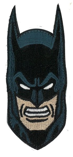 Angry Batman Head Shield Patch Embroidered Motorcycle Applique Badge Embroidery Patch Biker Punk Parch on Clothing for Jacket Backpack