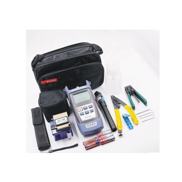 Kit de ferramentas de fibra óptica FTTH com ferramenta de fibra óptica e saco