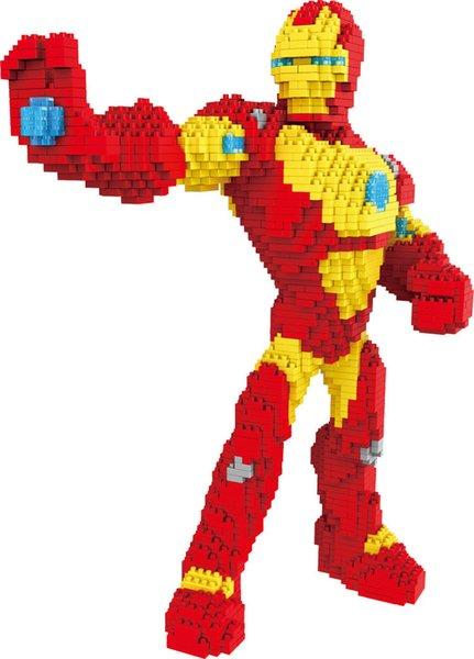 PZX 8830-2 lronman Building Blocks Super Hero DIY Building Toys Thor Cute Assembly Children Toys Spiderman Auction Figures Kids Gifts