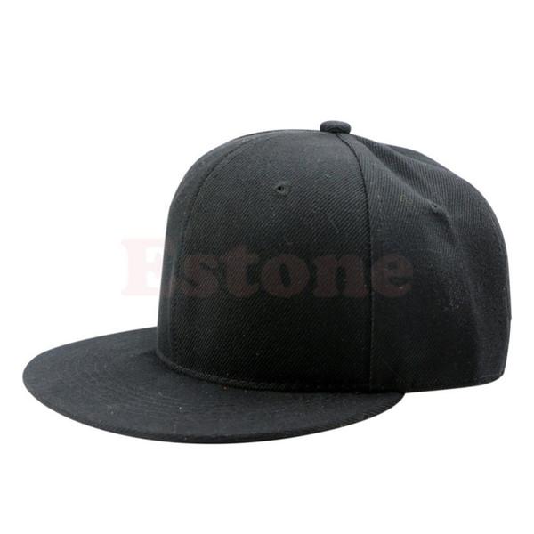 Blank Plain Snapback Hats Unisex Men's HipHop Adjustable Bboy Baseball Cap