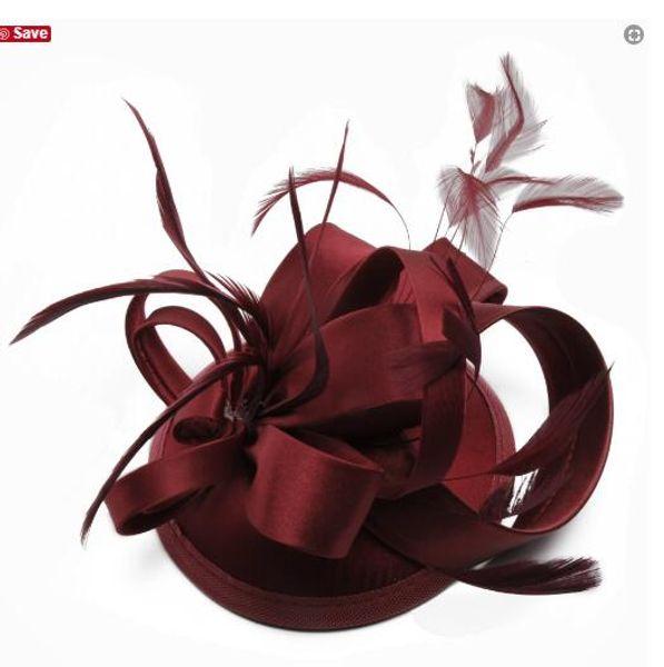 2018 New minimalist bride hat Flower styling feather ceremony Bridal Accessories formal ladies hat elegant women Headpieces 18-10