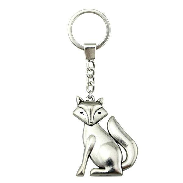 6 Pieces Key Chain Women Key Rings Couple Keychain For Keys Fox 50x37mm