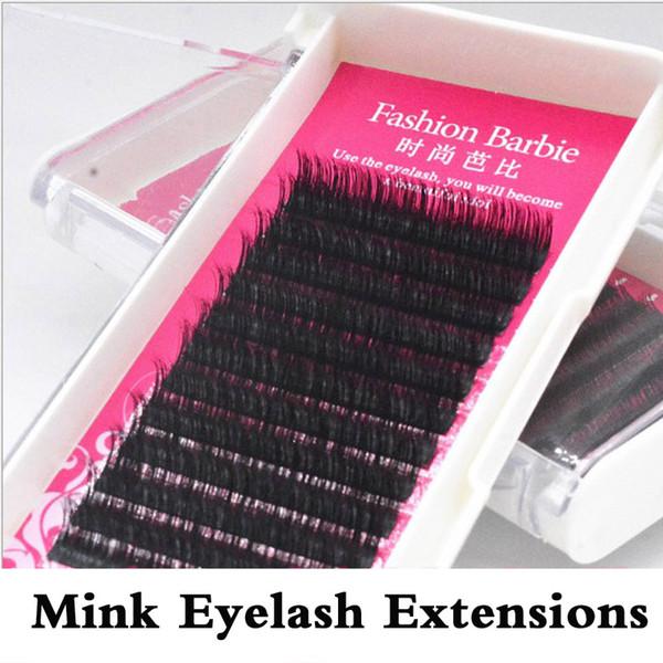 B/C Curl Mink Eyelash Extension Wholesale Fake False Eyelash Extension Individual 8mm/9mm/11mm/12mm/13mm Free Shipping
