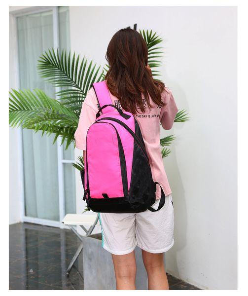 Large capacity outdoor sports backpacks brand designer shoulder bags waterproof oxford casual travel rucksacks black yellow pink color