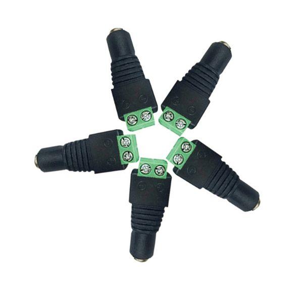 Femmina DC Cavo di alimentazione Jack Adattatore Connettore Spina per 5050 2835 LED Strip Rope Neon CCTV Camera 12 V 24V