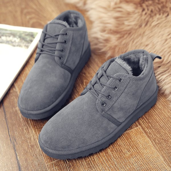 2018 Men Winter Ankle Snow boots Plush Inside Winter Shoes Top quality Antiskid Bottom Work & Safety Ankle Boots Rubber Shoes Size 39-44