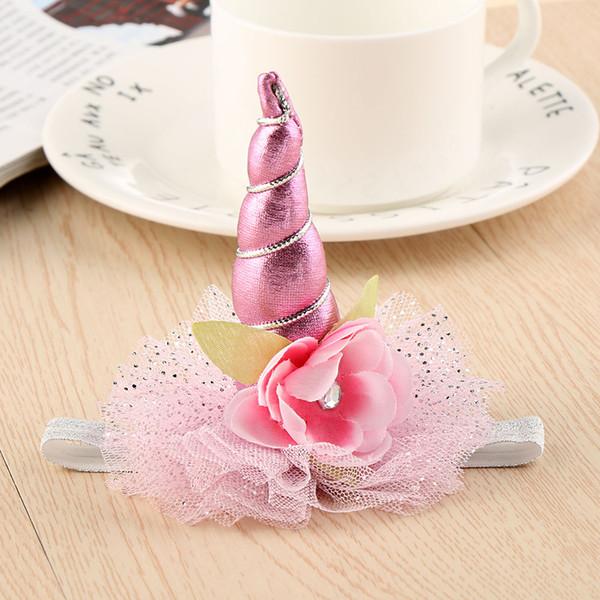 1 STÜCK DIY Glitter Metallic Unicorn Stirnband Fühlte Einhorn Horn Hairband Einhorn Party Haarband Zubehör Für Mädchen Kinder