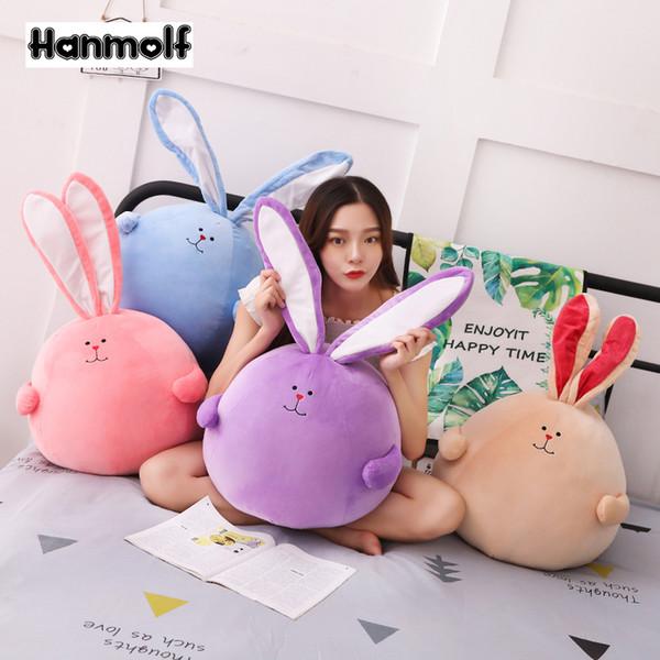 Long Ears Rabbit Stuffed Animals Doll Squishy Rabbits Plush Toy Purple/Pink/Blue/Brown Kids Comforting Toy Boys Girls Gift