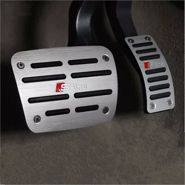 Emaicoca Aluminium Alloy Clutch Gas Brake pedals Cover case For A3(sedan) A4 A5 A6 A6 A7 A8 Q5 car styling free shipping