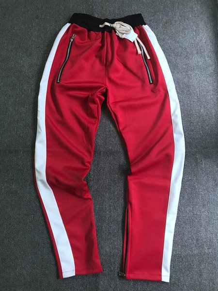 best selling Wholesale 2018 Street Style Men Fear Of God Pants Men's Loose Edition Small Trousers Zipper joggers Casual Cotton Fog Pants