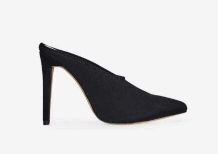 2018 women fashion party shoes PVC sandals PINK PVC shoes slide sandals point toe sandals PVC high heels 10cm heel