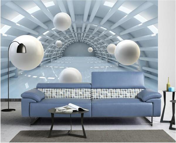 Acheter 3d Papier Peint Pour Salon Amélioration De L Habitat Fond D écran Moderne Fond Peinture Murale Peinture Sur Soie Papier Abstrait Espace Tunnel