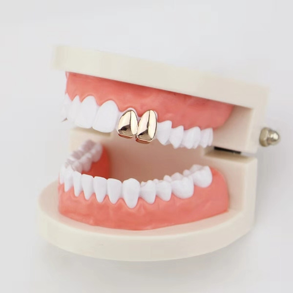 hip hop smooth double teeth grillz real gold plated fashion rappers dental grills cool music body jewelry golden silver rose gold black
