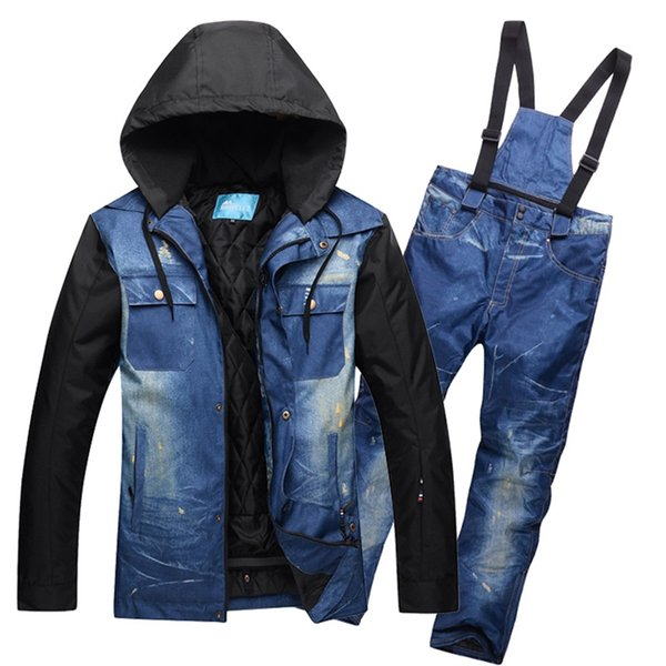 Single and double board Winter Ski Jacket Pants Men Snowboarding Suits Super Waterproof Breathable Skiing Jackets Male