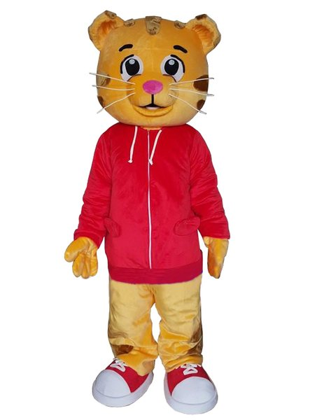 Wholesale daniel tiger Mascot Costume for adult Animal large red Halloween Carnival party