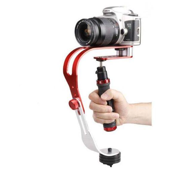 MOQ: 1 stücke Aluminiumlegierung Mini Handheld Digitalkamera Stabilisator Videokamera stabilisator Mobile DSLR Motion DV kamera stabilisator