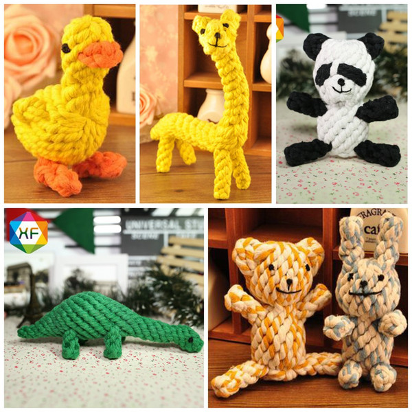 Panda Shape Dog Chew Teether Toys Resistance To Bite Cotton Rope Pet Molars Toy Many Styles 7 8yf Z R