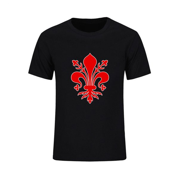 Elegant Fleur De Lis Flower Of Life Mandala 3d Classical Style T Shirt For Men Short Sleeve O Neck Men T Shirt Team Clothes Tops