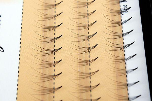 Professional Eye Makeup Individual Eyelashes Extension Soft Stem Natural Cross Curl Lash 6 8 9 10 11 12mm Planting Eye Lash Pre Made Graftin