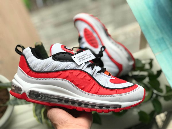 With Box 2018 New 98 Tour White Red Black The Ten Running Shoes Sneakers Mens 98s OG luminous Authentic Shoes of 36-46