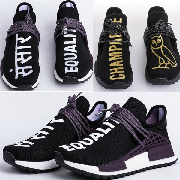 cheap for discount fdc00 88a3c Find Human Race Trail Equality Blank Canvas Pack Sneakers, Buy Pharrell Hu  Holi Trail OVO Black Shoes On Dhagte Online Store Canada 2019 From ...