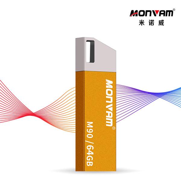 Yellow Irregular 16GB Pendrive 2.0 Waterproof Usb Memory Stick High Quality Real Capacity USB Flash Drive Usb Memory Stick For Monvam M90