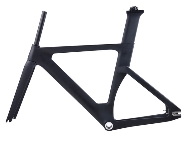 2019 new full carbon track frame road frames fixed gear bike frameset with fork and seat post carbon bicycle frame track bike