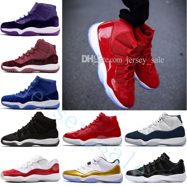 2018 Cheap New 11 Gym Red Chicago WIN LIKE 82 96 Midnight Navy PRM Heiress Black Stingray Mens Basketball Shoes 11s Athletic Sport Sneakers