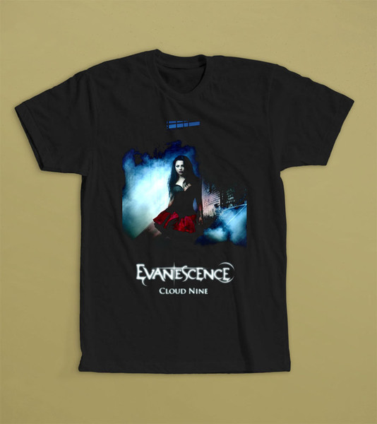 EVANESCENCE CLOUD NINE T-SHIRT S M L XL 2XL AMY LEE AMERICAN ROCK BAND NIGHTWISH HOT SELL 2018 New Fashion Brand Men tees Solid