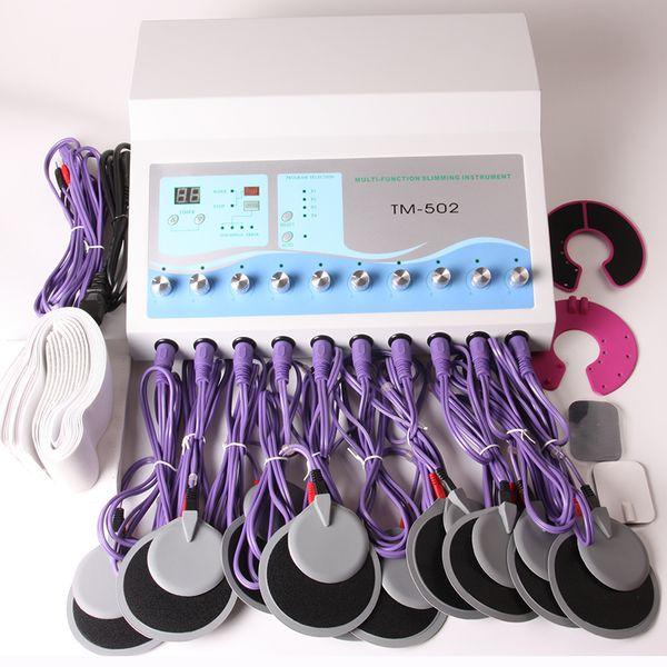 Cuscinetto dell'elettrodo della macchina di stimolazione del muscolo di EMS che dimagrisce attrezzatura per il dolore di rilievo di drenaggio linfatico DHL libera il trasporto