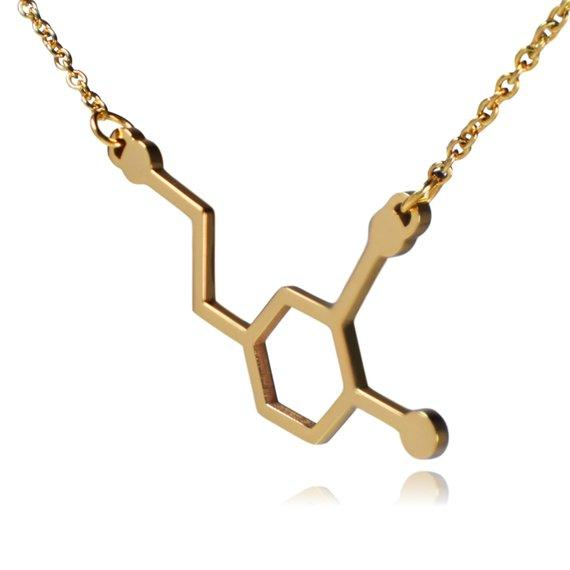 1pc Formula Chemistry Molecule Necklace Life Hexagon Chemical Molecular Structure Pendant Necklace Polygon Geometry Gift Necklace Jewelry