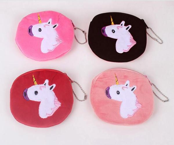 Le nuove mini borse della moneta domestica del partito dei raccoglitori della peluche delle donne di stile del mini Unicorno rotondo dei regali liberano il trasporto
