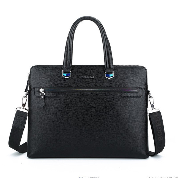Leather Laptop Shoulder Bag for 13'' inch Notebooks with Accessory Compartment, Shoulder Strap and Compartment
