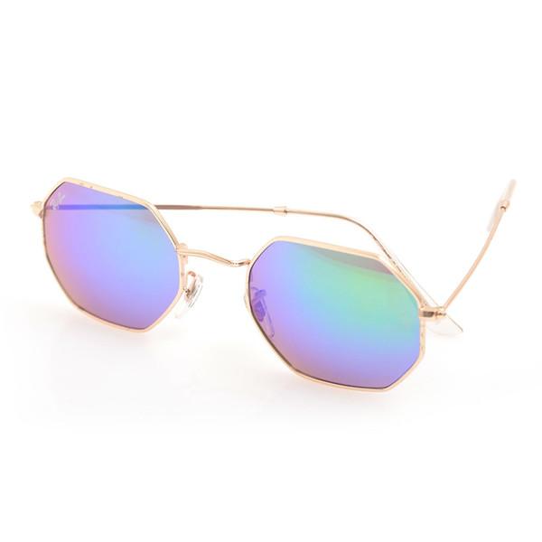 gold Frame blue Lens A