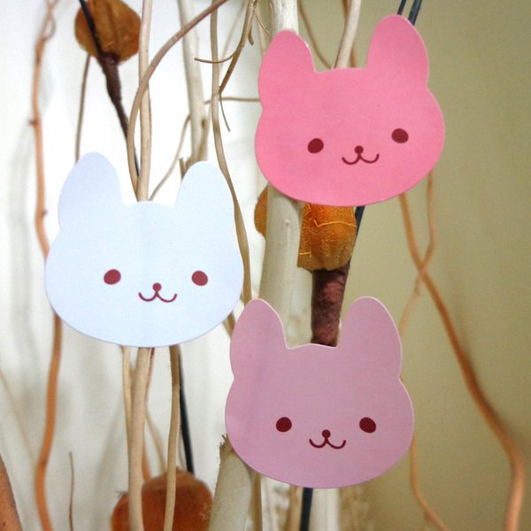 12 super cute three-color rabbit seal seal sticker seal sticker baking packaging diary teaching stickers