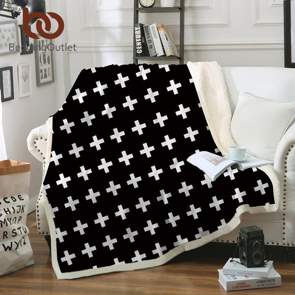 Fabulous Beddingoutlet Cross Blanket For Adults Black And White Plush Throw Blanket On Sofa Bed Sherpa Classical Bedding 150X200 Blue Fuzzy Blanket Throw Over Gmtry Best Dining Table And Chair Ideas Images Gmtryco