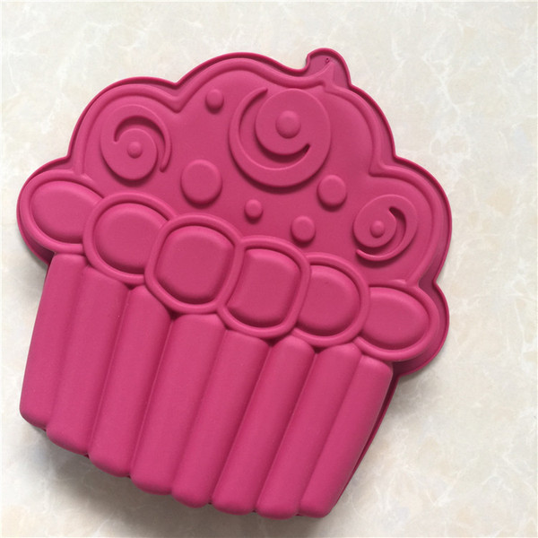 DIY Cook Mould Single Ice Cream Shape Silica Gel Cake Model Roast Disk Mode High Temperature Resistance Easy Release Diy Baking
