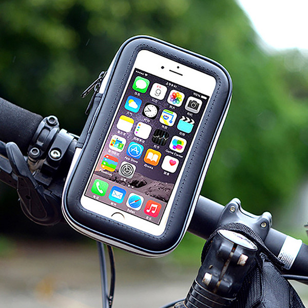 Cycling Bike Motorcycle Waterproof Bag Mobile Cell Phone Stand Holder Pouch Pack for Smartphone iPhone 6/6s Plus Outdoor Sports