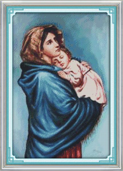 Die Jungfrau Maria, Christian Jesus Dekor Gemälde, Handmade Cross Stitch Stickerei Handarbeiten gezählt gedruckt auf Leinwand DMC 14CT / 11CT