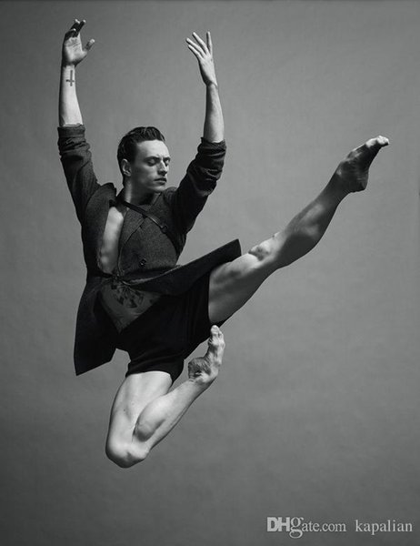top popular Culture Portrait Sergei Polunin Jacob Sutton Dancing Art Posters Print Photopaper 16 24 36 47 inches 2019