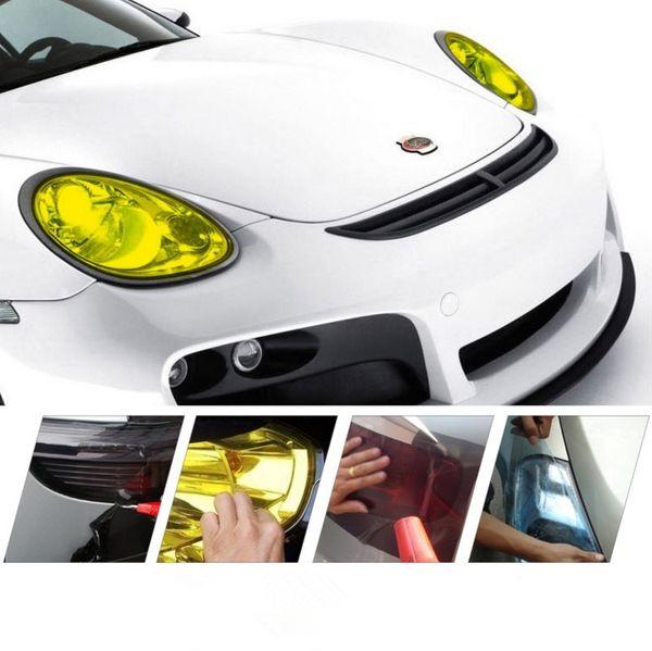 Pure Color 30cm x 100cm Auto Tint Headlight Taillight Fog Light Vinyl Smoke Film Sheet Sticker Cover 12inch x 40inch Car styling