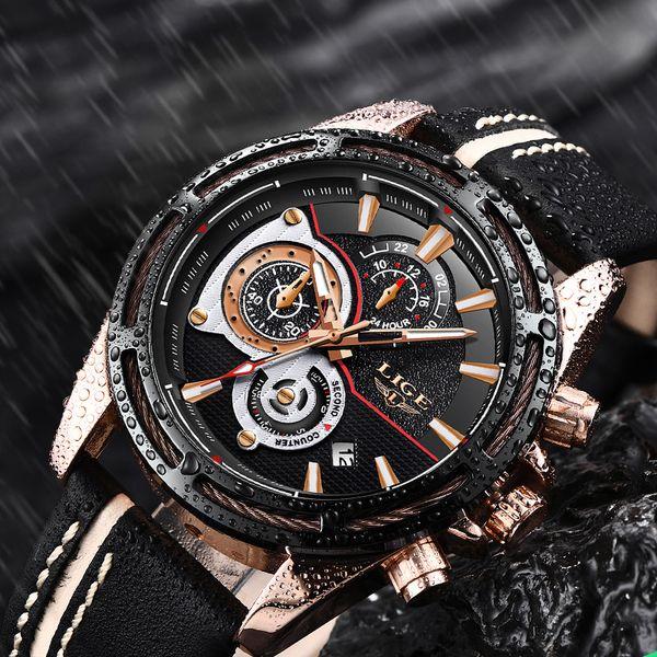 Relogio Masculino Mens Watches LIGE Top  Men Fashion Business Watch Men Waterproof Timekeeping Quartz Clock Relojes