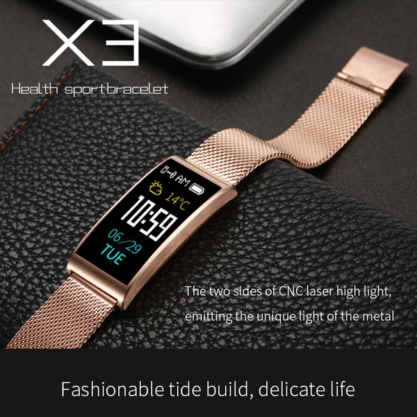 X3 Smart Watch X3 Men Women IP68 fitness tracker Smart bracelet Heart Rate Blood Pressure Fashion Sport Waterproof Smartwatch