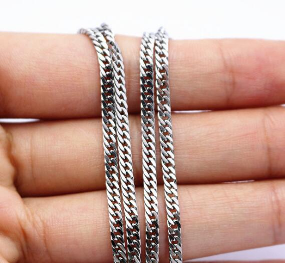 542c0ca09e27a 2019 Free Ship Jewelry High Quality Stainless Steel Silver Thin 4mm Double  Curb Link Chain Necklace Fashion Jewelry Women 18 32'' From Yueyang86, ...